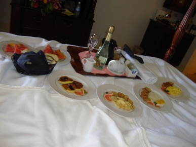 Breakfast in bed the morning after your wedding